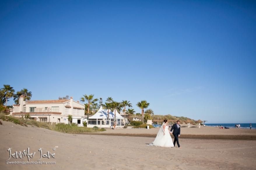 beach wedding photography, beach house marbella