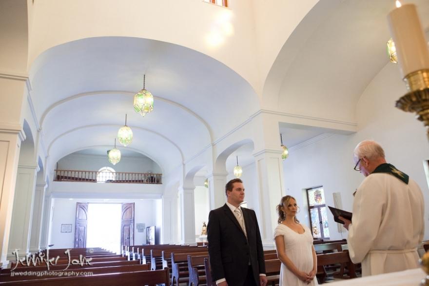 private wedding at the iglesia de santo domingo de guzman benalmadena